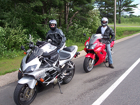 Dave and Derek on the Bikes