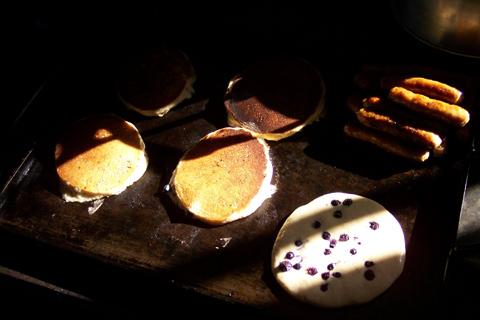 Pancakes in the sun